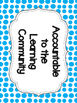 Accountable Talk Posters & Sentence Stems - Blue Chevron & Dots