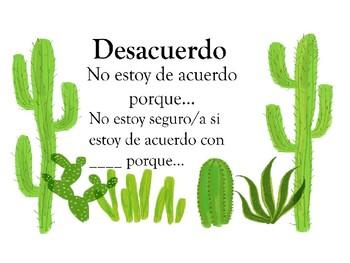 Accountable Talk Posters (Spanish)- Cactus
