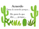 Accountable Talk Posters (Spanish)- Cactus