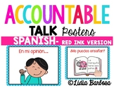 Accountable Talk Posters { Spanish -Red Ink Version}