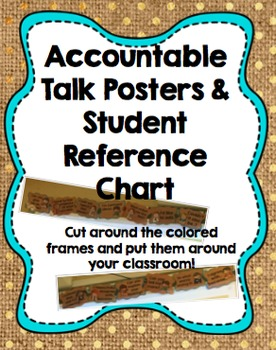 Accountable Talk Posters & Student Chart