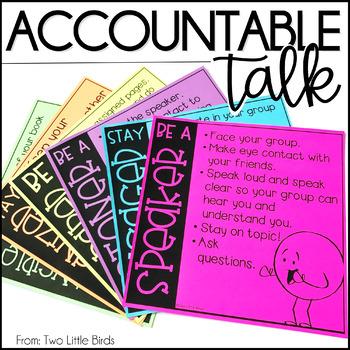 Accountable Talk: Posters, Thinking Stems, Bulletin Board Display