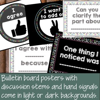 Accountable Talk Bulletin Board Posters and Student Printables