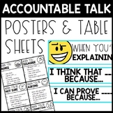 Accountable Talk Posters and Table Sheets - Accountable Talk Stems