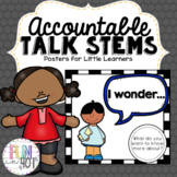 Accountable Talk Posters for Kindergarten through 2nd grade!