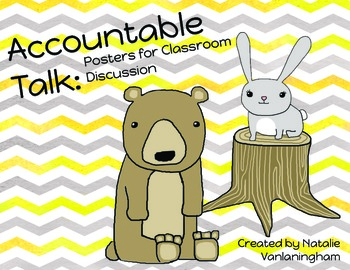 Accountable Talk: Posters for Strong Discussion- Critters (Common Core SL.1c&d)
