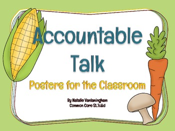 "Accountable Talk: Posters for a ""Healthy"" Discussion (Common Core SL.1c&d)"