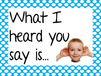 Accountable Talk Posters for the Younger Kiddos