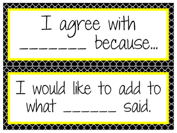 Accountable Talk Posters to Display- Quatrefoil pattern