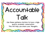 Accountable Talk Posters with Sentence frames