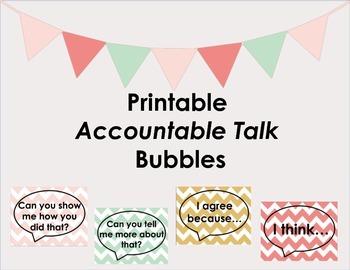 Accountable Talk Printable Posters