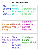 Accountable Talk Prompts