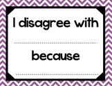 Accountable Talk - Purple Chevron