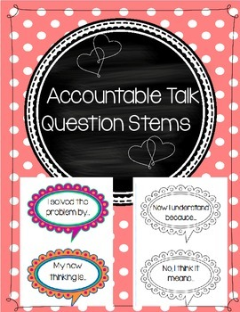Accountable Talk Question Stems