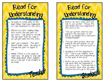 Accountable Talk Reading Response Cards