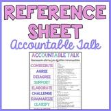 Accountable Talk: Reference Sheet