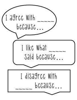 Accountable Talk Respectful Converstation Starters Speech Bubbles