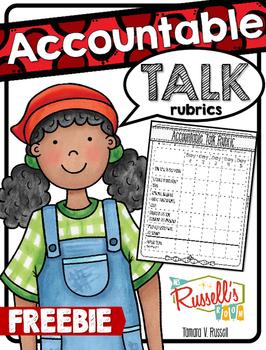 Accountable Talk Rubrics FREE