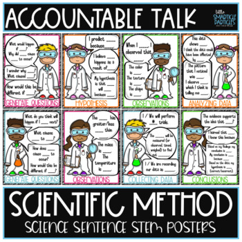 Accountable Talk Science Sentence Stem Posters