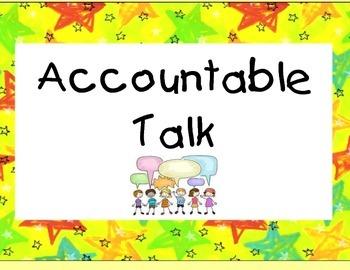 Accountable Talk Sentence Frames Posters!