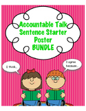 Accountable Talk Sentence Starter Posters & Bookmark BUNDLE