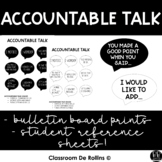 Ready to print Accountable Talk Sentence Starter Posters a