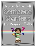 Accountable Talk Posters for Number Talks