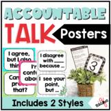 Accountable Talk Sentence Stem Posters & Desk Mat