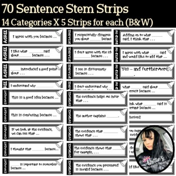 Accountable Talk Sentence Stem Strips (65)