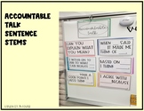 Accountable Talk Sentence Stems