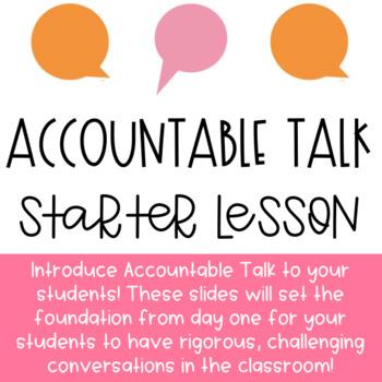 Accountable Talk Starter Lesson