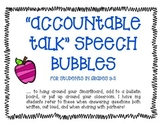 Accountable Talk Speech Bubbles Grades 3-5