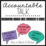 Accountable Talk Speech Bubble Posters