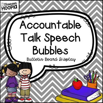 Accountable Talk Speech Bubble Bulletin Board