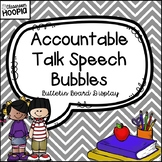 Accountable Talk Speech Bubble Bulletin Board