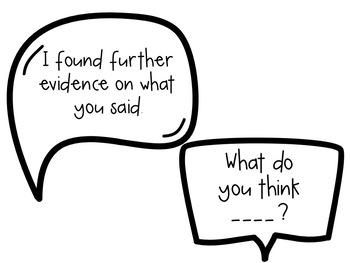 Accountable Talk Speech Bubbles