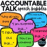 Accountable Talk Sentence Stem Speech Bubbles