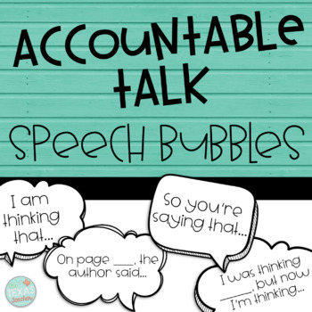Accountable Talk Speech Bubbles