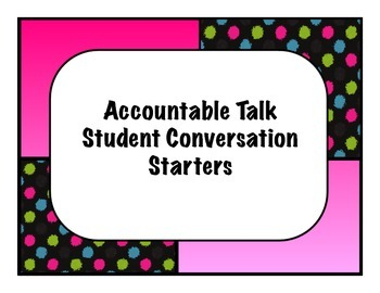 Accountable Talk Starter Cards