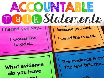 Accountable Talk Posters, Accountable Talk Stems