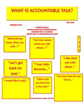 Accountable Talk Station Sign