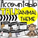 Accountable Talk Stem Posters: ANIMAL THEME