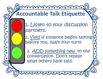 """Accountable Talk """"Stem Question"""" Discussion Wands (Grades 2-6)"""