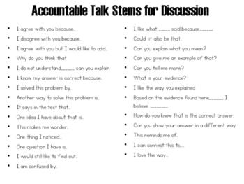 Accountable Talk Stems Bundle!