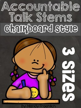 Accountable Talk Stems Chalkboard Style
