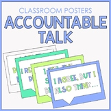 Classroom Posters with Accountable Talk Stems