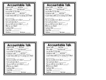Accountable Talk Stems FREEBIE!