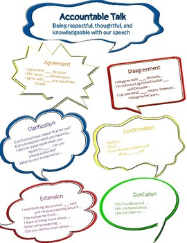 Accountable Talk Stems Posters
