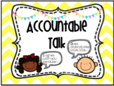 Accountable Talk Stems Posters AND Desk Tags!