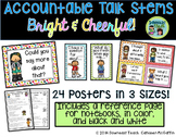 Accountable Talk Stems Posters: Bright and Colorful